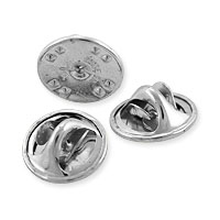 Butterfly Clutch Pin Backs Silver Color (10-Pcs)
