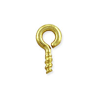 Screw Eye 7.5x3.5mm Gold Color (10-Pcs)