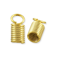 Spring Cord End Cap 10x5mm Gold Plated (10-Pcs)