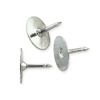 Tie Tack 9x10mm Silver Color (10-Pcs)