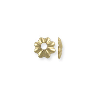 Scalloped Bead Cap 3.5x1mm Gold Filled (1-Pc)
