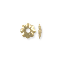 Scalloped Bead Cap 4x1mm Gold Filled (1-Pc)