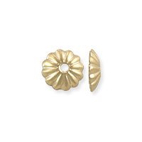 Scalloped Bead Cap 6x1.5mm Gold Filled (1-Pc)