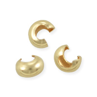 Crimp Bead Cover 2.4mm Gold Filled (4-Pcs)