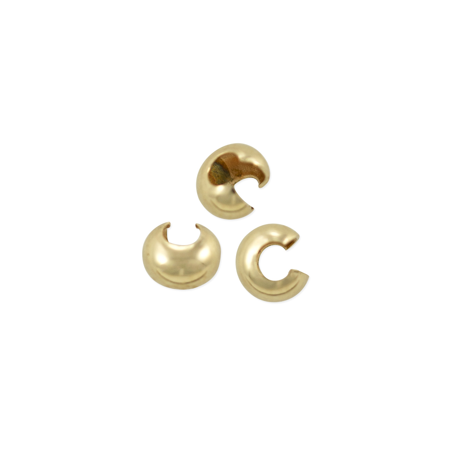 Gold Plated Crimp Cover Beads 3mm 4mm 5mm Findings