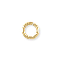 Open Round Twist Lock Jump Ring 5.8mm Gold Filled (1-Pc)