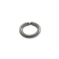 Oval Open Jump Ring 6x4.5mm Surgical Stainless Steel (4-Pcs)