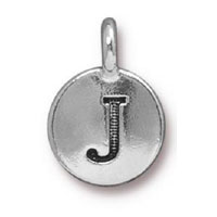 TierraCast Alphabet Charm with Loop