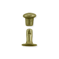 TierraCast Compression Rivet 4mm Brass Antique Brass Plated (1 Set)