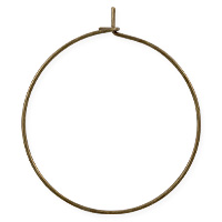 Hoop Ear Wires 30mm Antique Brass Plated (2-Pcs)