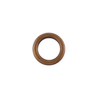 Closed Jump Ring 6mm Antique Copper (5-Pcs)