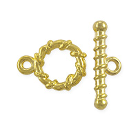 Spiral Toggle Clasp 11mm Antique Gold Plated (Set)