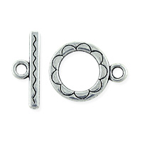 Toggle Clasp 12mm Pewter (Set)