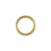 Open Jump Ring 8mm Satin Hamilton Gold Plated (50-Pcs)