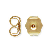 Medium Earring Back 4x5mm Gold Filled (1-Pc)