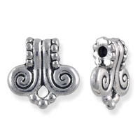 Volute Bail 10x10mm Pewter Antique Silver Plated (1-Pc)