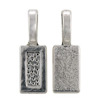 Glue On Rectangle Bail 21x7mm Pewter Antique Silver Plated (1-Pc)