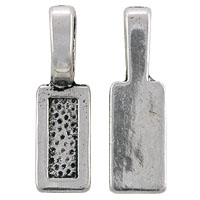 Glue On Rectangle Bail 26x8mm Pewter Antique Silver Plated (1-Pc)