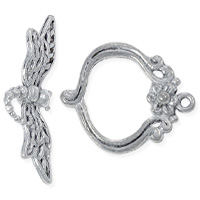 Dragonfly Toggle Clasp 20mm Pewter Antique Silver Plated (Set)