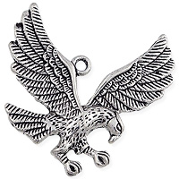 Flying Eagle Pendant 35mm Pewter Antique Silver Plated (1-Pc)