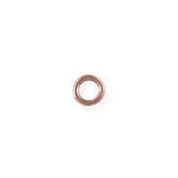 Closed Jump Ring 4mm Rose Gold Filled (2-Pcs)