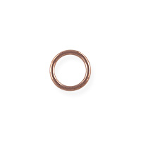 Closed Jump Ring 6mm Rose Gold Filled (2-Pcs)