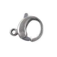Lobster Claw Clasp 12x10mm Surgical Stainless Steel (1-Pc)