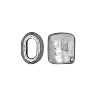 TierraCast Barrel Bead 7mm Pewter Rhodium Plated (1-Pc)
