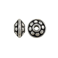 TierraCast Dotted Spacer Bead 7x4mm Pewter Antique Silver Plated (1-Pc)