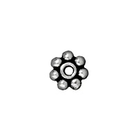TierraCast Heishi Bead 4mm Pewter Antique Silver Plated (4-Pcs)