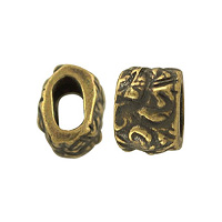 TierraCast Jardin Barrel Bead 7.8mm Pewter Brass Oxide (1-Pc)