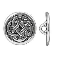 TierraCast Celtic Knot Button 16.5m Antique Silver Plated (1-Pc)