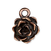 Tierracast Succulent Charm 12x15mm Antique Copper Plated (1-Pc)