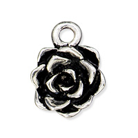 Tierracast Succulent Charm 12x15mm Antique Silver Plated (1-Pc)