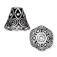 TierraCast Spiral Cone 10x9mm Pewter Antique Silver Plated (1-Pc)