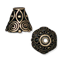 TierraCast Spiral Cone 10x9mm Pewter Oxidized Brass Plated (1-Pc)