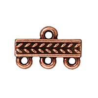 TierraCast Braided 3-1 Link 15x4mm Pewter Antiqued Copper (1-Pc)