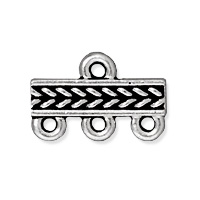 TierraCast Braided 3-1 Link 15x4mm Pewter Antique Silver (1-Pc)