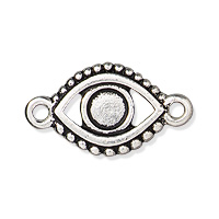 TierraCast Evil Eye Link 11x20mm Pewter Antique Silver Plated (1-Pc)