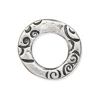 TierraCast Small Flora Ring 13x7mm Antique Pewter (1-Pc)
