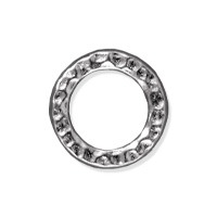 TierraCast Hammertone Ring 13mm Pewter Bright Rhodium Plated (1-Pc)