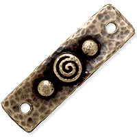 TierraCast Spiral & Rivets Link 39x11mm Pewter Oxidized Brass (1-Pc)