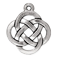 TierraCast Celtic Knot Pendant 21x18mm Pewter Antique Silver Plated (1-Pc)