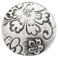 TierraCast Flora Pendant 22mm Antiqued Pewter (1-Pc)