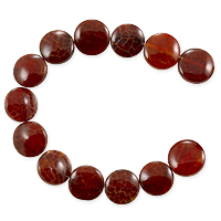 10 Strands of Fire Agate Puffy Round Beads 12mm (8