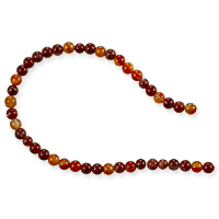 10 Strands of Fire Agate Round Beads 4mm (8