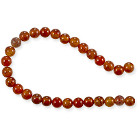 10 Strands of Fire Agate Round Beads 6mm (8