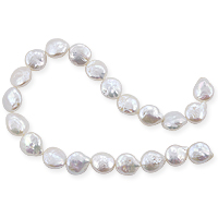 Freshwater Coin Pearl Creme 11-12mm (16