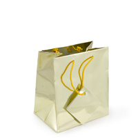 Metallic Gold 4x4 Tote Gift Bag (20-Pcs)