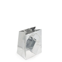 Metallic Silver 3x3 Tote Gift Bag (20-Pcs)